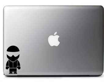 The Stig Inspired Vinyl Decal for MacBook / Laptop / Gadget + Free USA Shipping!
