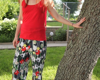 1970s Vintage PERSONAL Leslie Fay Garden Party Pants