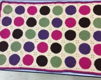 Colorful Circles Crochet Blanket
