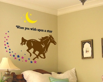 Childs room decor-Horse quote decal-Horse sticker-Girls room-Vinyl wall decal-40 X 41 inches