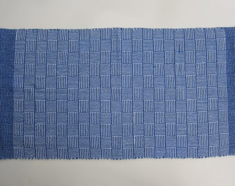 Handwoven Log Cabin Table Runner