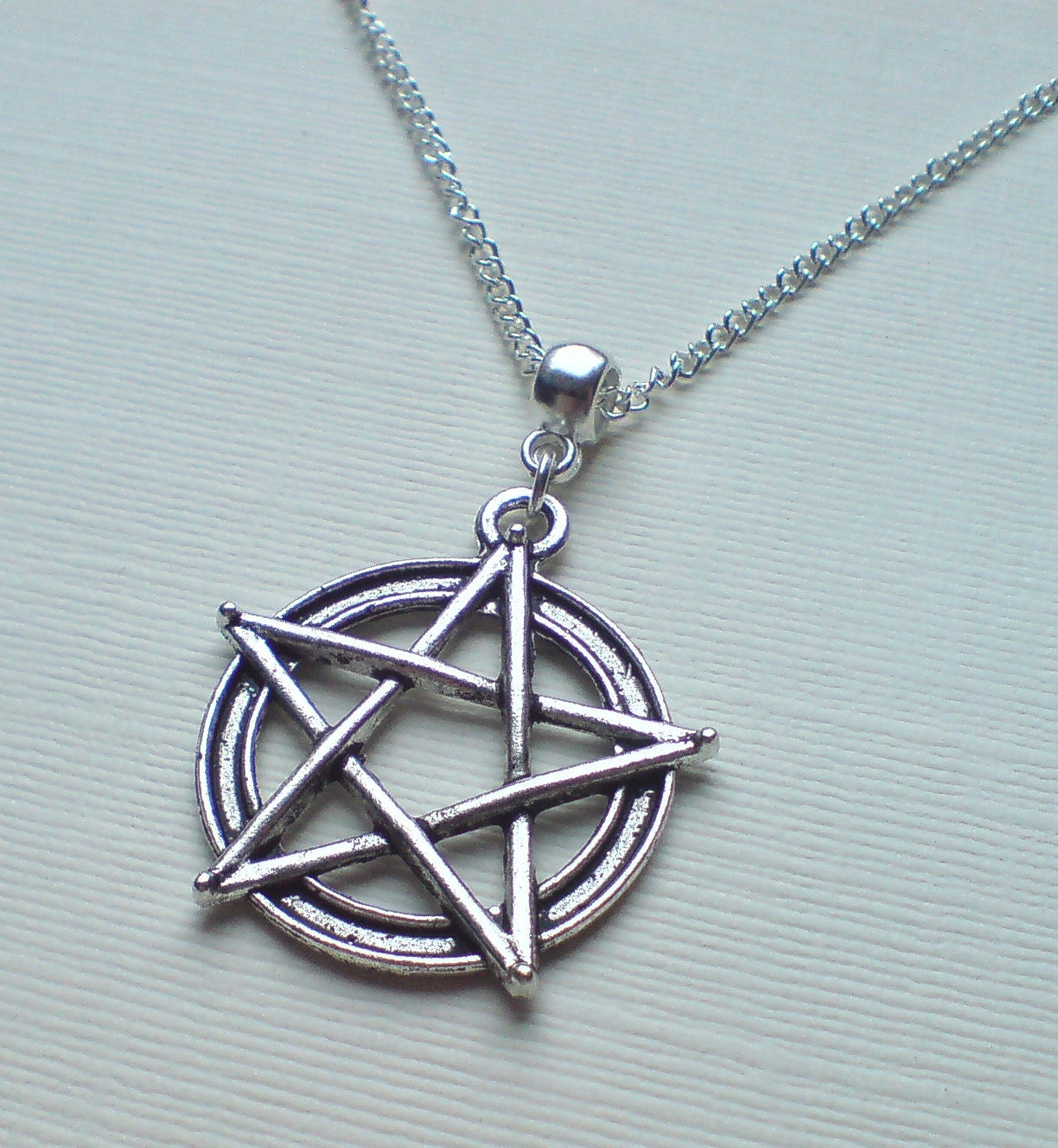 pentagrams jewelry antique silver pentagram necklace silver pentacle necklace 3165
