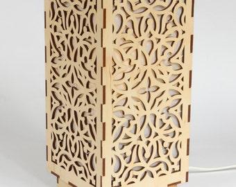 wooden lamp decorative lamp laser cut wood lamp table lamp classic - Laser Cut Wood