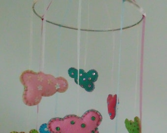 handmade mobile 'little clouds'