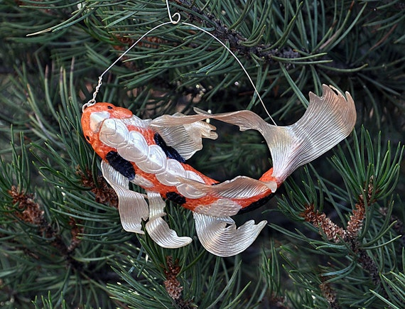 christmas ornament koi ornament koi fish ornament christmas