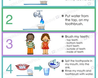 Handmade Brushing Teeth Etsy