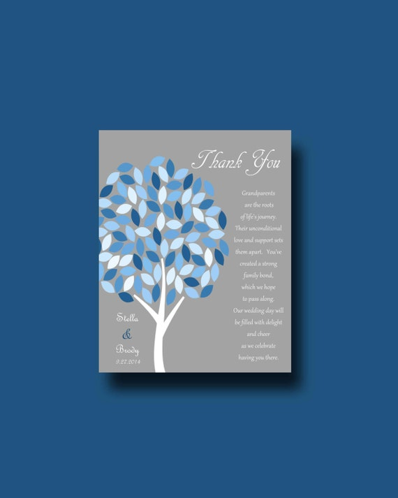 Wedding Gifts For Grandparents From Bride And Groom : Wedding gift for GRANDPARENTS from Bride & Groom, Tree Gift, Thank you ...