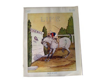 Vintage Life Magazine A D Blashfield Cover February 26 1914 / Turn of The Century Magazine / Vogue Pattern Ad / Vintage Advertising