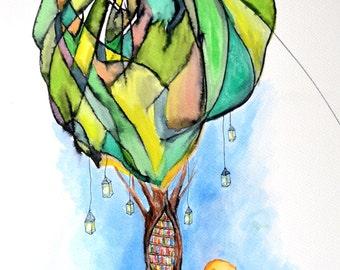 A Bookworm's Dream - Toddler Collaboration   ART PRINT