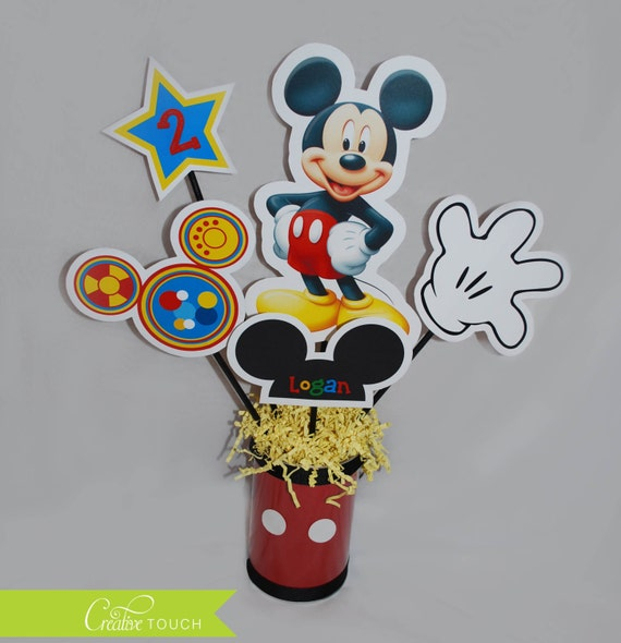 mickey mouse clubhouse centerpiece table decoration toodles decor birthday party 1st 2nd. Black Bedroom Furniture Sets. Home Design Ideas