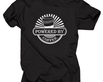 Powered By Coffee T-Shirt Gift For Coffee Fan Tee Shirt