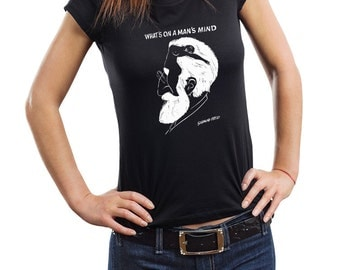 Sigmund Freud Woman Top T-Shirt Tee Shirt