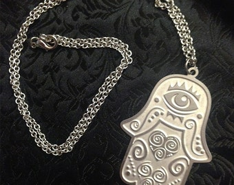 Hamsa Stainless Steel Necklace