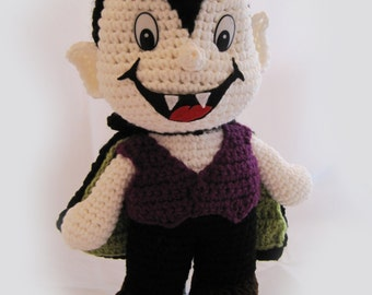 """Crocheted """"Dracula"""" the Trick or Tr-eater"""