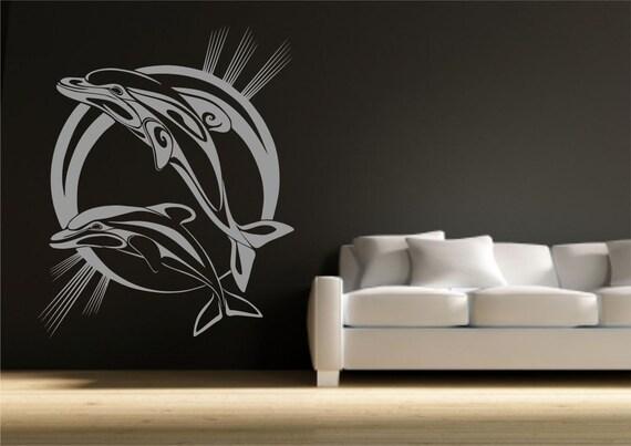 delfino bagno vinyl wall art sticker decal trasferimento stencil murali tatuaggio arte parete adesivi wsd726