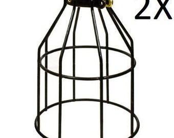 2X Metal Lamp Cage - Edison Bulb - Industrial lighting - Metal Cage