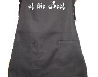 Commander Of The Beef  Kitchen Accessory Grill Grilling Cover Up Apron