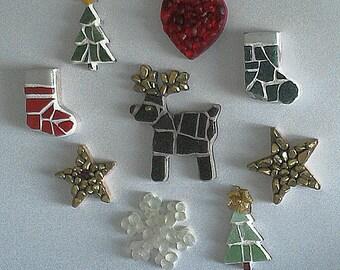 handmade mosaic star decorations for the Christmas Tree