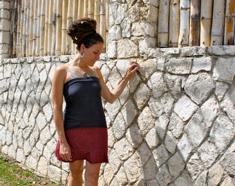 Tube top - Handmade from Organic Cotton and Hemp Jersey- Custom made and dyed