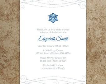 Snowflake Invitation - Printable Invitation - Holiday Party Invitation - Winter Birthday Invitation - Winter Invitation - Printable PDF