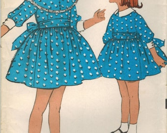 1960s Advance 2984 UNCUT Vintage Sewing Pattern Girl's Party Dress Size 5