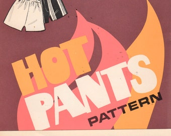 Sew Knit N Stretch 000 1970s Misses Groovy HOT PANTS Pattern for Stretch Knits Womens Vintage Sewing Pattern Size 8  10 12 14 UNCUT