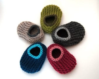 Design Your Own Wool Baby Slippers, sizes 0 to 18 months, Wool Baby Slippers, Crib Shoes, Booties