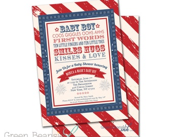 4TH of JULY Printable Party Invitation - Printing Available
