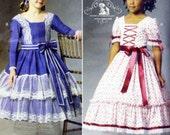 Childrens Steampunk Pattern Girls Dress Victorian Gown 2 Styles Historical Costume Sz 2 3 4 5Butterick 59000