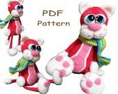 Crochet toy Amigurumi Pattern - Cherry Cat