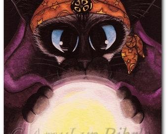 Siamese Cat Fortune Teller - Art Prints by Bihrle ck340