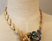 Garden Visitor Revamped Recycled Repurposed Vintage Necklace