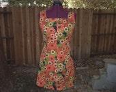 Mad Men Dress Mod Dress Go Go Dress Scooter Dress Mini Dress Megan Draper Dress Shift Dress 1960s Dress 60s Dress Twiggy Dress Floral Dress