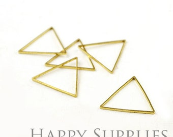 Large 20pcs - 24X24mm High Quality Raw Brass triangle Charms / Pendants Connector(ZG146-B)