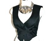 THIERRY MUGLER Vintage Corset Vest Bondage Bustier - AUTHENTIC -
