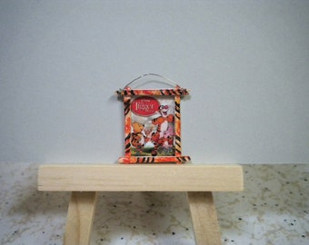OOAK Miniature Dollhouse Movie Poster The Tigger Movie Hand Crafted and Hand Painted Frame