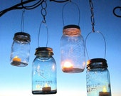 30 Candle Lantern Lids DIY Wedding Mason Jar Lanterns, Hanging Candle Holders, Outdoor Country Garden Party, Lids Only