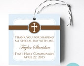 Simple Cross Favor Tag - Printable - First Communion, Baptism, Christening or Confirmation