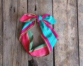 Summer Bohemian Stripes Headband. Dolly. Retro. Head Scarf.  Boho. Bohemian. Tie Up headband. Spring Summer Hair Accessories. Bridesmaids