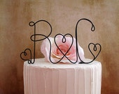 Personalized Initials Wedding Cake Topper, Monogram Rustic Wedding Cake Decoration, Shabby Chic Wedding Cake Topper, Wedding Cake Topper