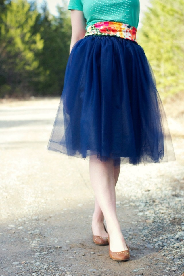 navy blue tulle skirt blue bridesmaid s by