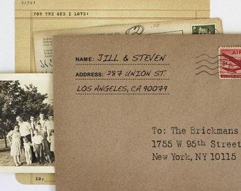 Address Stamp - Personalized Address Stamp - Custom Stamp - Label Style - Housewarming - DIY Printing - Address Only Stamp - Family Stamp