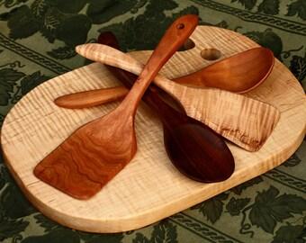 Hardwood Spatula- straight handle -Handmade Wooden Spatula