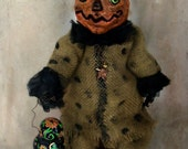 ON SALE Pumpkin Doll OOAK