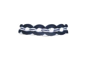 SALE Belt Navy White Braided Cord Size Large