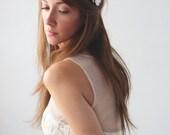 SUGAR FLOWER CROWN - Woodland wedding crown, Bridal head piece, Bridal hair crown, Wedding Hair Accessory, Rustic head piece
