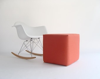Pouf/ Ottoman / Minimalistic /Coral /Modern Floor Pouf /Additinal Sturdy Seating/ Unique Side table/ Foot Stool /Zigzag Studio Design