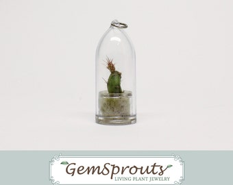 HOLIDAY SALE: GemSprouts Wearable Cactus - Plains Prickly Pear Cactus Necklace with Ballchain