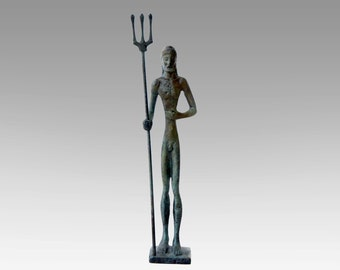 God Poseidon Statue, Bronze Sculpture, Metal Art Sculpture, Museum Quality Art, Greek Mythology, Olympian God, Neptune
