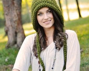 Women's Pixie Hat, Crochet Hat, Gnome Hat, Fall Fashion